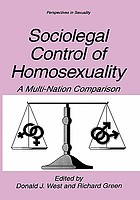 Sociolegal control of homosexuality : a multi-nation comparison