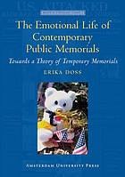 The emotional life of contemporary public memorials : towards a theory of temporary memorials