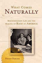 What comes naturally : miscegenation law and the making of race in America