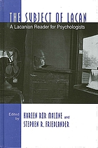 The subject of Lacan : a Lacanian reader for psychologists