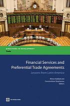 Financial services and preferential trading arrangements : lessons from Latin America