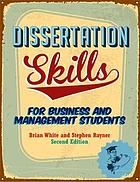 Dissertation skills for business and management student