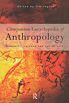 Companion encyclopedia of anthropology Book Cover