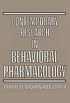 Contemporary research in behavioral pharmacology