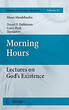 Morning hours : lectures on God's existence