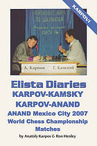Elista diaries : Karpov-Kamsky : Karpov-Anand : Anand Mexico City 2007 : world chess championship matches