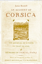An account of Corsica, the journal of a tour to that island ; and memoirs of Pascal Paoli