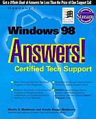 Windows 98 answers! : certified tech support