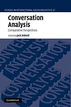 Conversation analysis : comparative perspectives