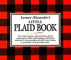 Lamar Alexander's little plaid book