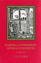Harpole & Foxberrow, general publishers