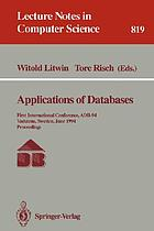 Applications of databases : first international conference ; proceedings