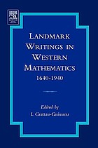 Landmark writings in Western mathematics 1640-1940