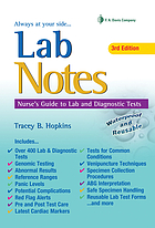 Lab notes : guide to lab and diagnostic tests