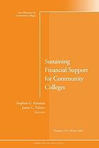 Sustaining financial support for community colleges