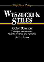 Color science : concepts and methods, quantitative data e formulae