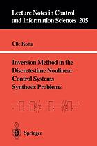 Inversion method in the discrete-time nonlinear control systems synthesis problems