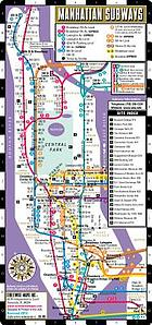Manhattan subways, Streetwise metro map ; Manhattan buses