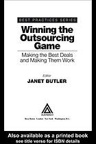 Winning the outsourcing game : making the best deals and making them work