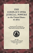 The conflict over judicial powers in the United States to 1870