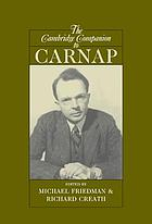 The Cambridge companion to Carnap