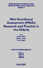Mini nutritional assessment (MNA) : research and practice in the elderly