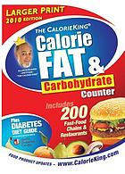 The CalorieKing calorie, fat & carbohydrate counter.