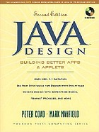 JAVA design : building better apps and applets