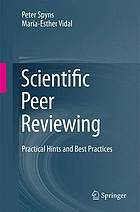 Scientific peer reviewing : practical hints and best practices