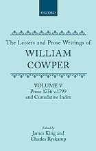 Letters and prose writings / 5 Prose 1756 - c. 1799 and cumulative index.
