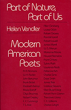 Part of nature, part of us : modern American poets