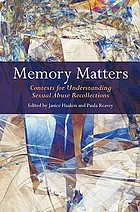 Memory matters: contexts for understanding sexual abuse recollections cover image