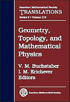 Geometry, topology, and mathematical physics : S. P. Novikov's seminar: 2002 - 2003