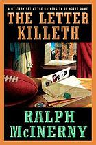 The letter killeth