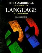 The Cambridge encyclopedia of language.
