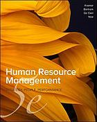 Human resource management : strategy, people, performance