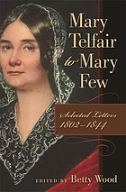 Mary Telfair to Mary Few : selected letters, 1802-1844