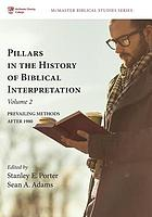 Pillars in the history of biblical interpretation