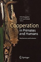 Cooperation in Primates and Humans: Mechanisms and Evolution cover image
