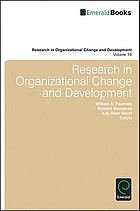 Research in Organizational Change and Development.