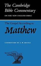 The gospel according to Matthew
