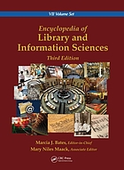 Encyclopedia of library and information sciences : ed. by Marcia J. Bates.