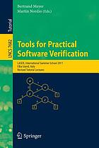 Tools for practical software verification : LASER, International Summer School 2011, Elba Island, Italy, revised tutorial lectures