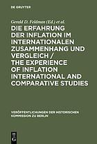 The Experience of inflation : international and comparative studies