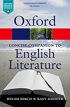 The concise Oxford companion to English literature.