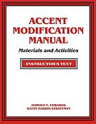 Accent modification manual : materials and activities