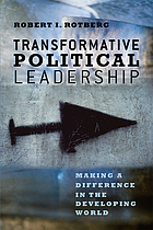 Transformative political leadership : making a difference in the developing world