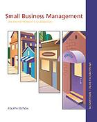 Small business management : an entrepreneur's guidebook