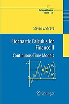 Stochastic calculus for finance / 2, Continuous-time models.