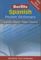 Berlitz Spanish pocket dictionary.